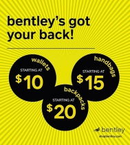 Accessories for any occasion!  Shop Bentley Today!  Sale ends Jul.12