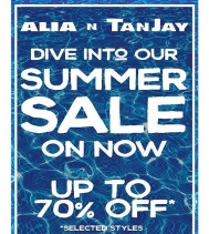 #summer sale on until Aug 6th at Alia n Tanjay!