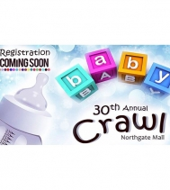 Stay tuned for the 30th Annual Baby Crawl Registration Dates @northgateyqr! #babies #yqr #fastestbaby