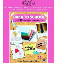 Visit @thingsengraved for their Back to School Sale! Starts Aug 16th - Sept 19th. #backtoschool #shopping