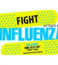 #fightinfluenza! Get your shots @northgateyqr Nov.10, 17-18 from 9am-7pm