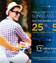 Prescription SUNGLASS Sale on Now at #fyidoctors! ☀️🕶