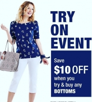 Try On Event at Alia n' Tanjay until APR.17! Save $10 OFF when you try & buy any BOTTOMS!