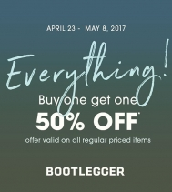 #Everything BOGO!! 💙💙💙 Buy One Get One 50% Off Regular Priced Items! @northgate_bootiecrew @bootleggerjeans #yqr #bogo #yay 👚👖👕👗🌸☀️#hotdeals