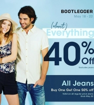May Long Weekend! Entire Store is 40%OFF *excluding jeans* 👖💙👖💙BOGO Jeans 50%! @bootleggerjeans @northgate_bootiecrew #longweekend #bogo #shop #yqr #hotdeals