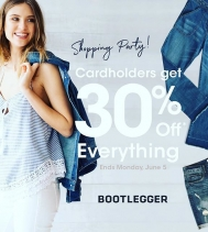 Who doesn't 💙a Shopping Party?🛍 @bootleggerjeans @northgate_bootiecrew Cardholders get 30% OFF EVERYTHING!!!! Ends Jun.5! 🛍🙌🏽👖👚👕👗#cardholder #yqr #shop #sweetdeals #denim #dresses #accessories #summerwardrobe