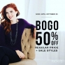 BOGO 50%OFF Regular Price & Sale Styles @rickisfashion! On Now until Oct.23rd