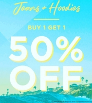 Visit Bluenotes' for their BOGO 50% OFF Jeans + Hoodies!