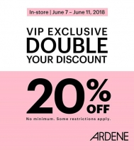 VIP Exclusive 20% off  @ardene