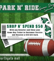🏈💚 Game Day Special! 💚🏈 Visit Customers Service for all the Details!  #riders #gameday #riderpride