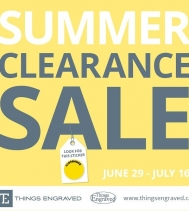🏖Summer Clearance Sale!🏖Visit Things Engraved in the Northgate Mall from now until July 16th. Just look 👀 for the yellow stickers! #SummerSavings #ClearanceSale #EngravedGifts