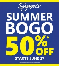 It's summertime, and time for BOGO Sale! 🏖☀️🍦 Great Saving at Suzanne's Northgate Mall until July 2nd. @northgateyqr #Suzannes #summer #bogo