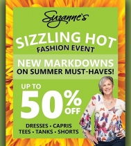 ☀️ Suzanne's Sizzling Hot ☀️ Fashion Event on now at the Northgate! UP TO 50% OFF on select items.