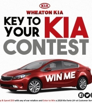 🚘 Key To Your KIA Contest 🚘 One lucky shopper will drive away in Red Bombshell! Visit Customer Service for all the details... Wheaton KIA #yqr #cargiveaway #shopandspend50 #win