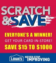 SCRATCH & SAVE $15 TO $1000! When you spend $100 or More! INSTANT SAVINGS! Visit In-store for details. July 19 to 25 #scratchandsave #yqr