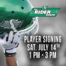 🏈💚 Come and Meet Willie Jefferson & Zack Evans at the Rider Store this Saturday July 14th from 1PM - 3PM!! 🏈💚 #riderpride #yqr #playerappearance #ridernation
