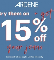 Try them on and get 15% off your jeans. 👖👖👖 Hurry in! Limited time only! @ardene