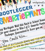 🍎Back to School🍎with Northgate Mall and Bootlegger! Shop and Enter to WIN one pair of Jeans 👖 and your name will be also Entered to WIN IPAD from Apple! 🎉📚 #backtoschoolshopping #giveaway #yqr @northgate_bootiecrew