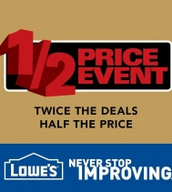Twice the deals. Half the price. Save BIG today through August 29 on select flooring, tile, tools & more! Visit In-store For Details!