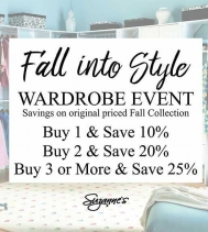 Fall into Style with Suzanne's Wardrobe Event!  #SuzannesStyle