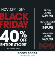 BLACK FRIDAY -- 40% OFF ENTIRE STORE! (excluding jeans) @northgate_bootiecrew