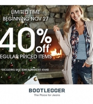 Limited Time! 40% OFF Regular Priced Items. Excluding Jean's and sale items.
