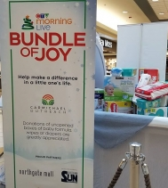 It's Bundled of Joy at Northgate Mall! You can help us with a donation of unopened boxes of diapers, wipes and formula at our collection center by Customer Service! All donation help precious babies in need!  @carmichaeloutreach @ctvreginalive #BundleofJo