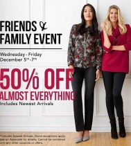 Friends & Family ENJOY 50% OFF Almost Everything, including Newest Arrivals, from December 5th - 7th Northern Reflections!  #northernfriendsevent  #shoppingevent #northernfriends  #friendsandfamily #northernreflections