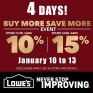 The More you Buy, the More you SAVE. The More you Save, the More you WIN. 🙏 So basically, Lowe's Buy More Save MORE Event is Awesome! 😎