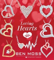 Worn close to the heart ❤ Ben Moss's Loving Hearts Collection is the perfect gift to show your love, this Valentine's Day.💘