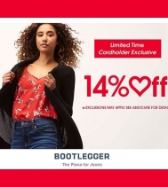 Limited time Cardholder Exclusive, Save 14% Off  Feb. 12 to  Feb. 14