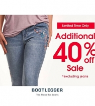Enjoy an Additional 40% OFF at Bootlegger! See in store for details, some exclusions apply. @northgate_bootiecrew