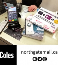 Another Lucky Shopper at Coles book store in the Northgate Mall!! 🤩🎉🛍➡️ This March shop the Northgate Mall and your Shopping Purchase 🛍 could be GIFTED 🙌 to you at RANDOM!! @northgateyqr #PayingItForward #giveaways #shopping #yqr
