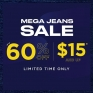 THE MEGA JEANS SALE - GET TO BLUENOTES THIS SPRING BREAK AND GET JEANS FROM $15 & UP! Select locations. Some exclusions may apply. While Quantities Last.
