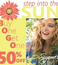 Step into the Sun ☀️ with Suzanne's Spring BOGO! 😎 BUY ONE GET ONE 1/2 OFF #SuzannesStyle #spring #BOGO