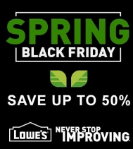 Shop Lowe's Spring Black Friday 🌱🌷😀 and Save on mulch, grills, patio furniture, lawn and more! Offer valid through to April 3rd! Exclusions apply, see in store for details.