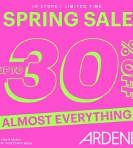 Get Up to 30% Off on Almost Everything at Ardene!! 🎉  Limited time only. Some restrictions apply. #ardenelove #shopping