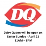 Dairy Queen in Northgate Mall will open Easter Sunday from 11AM - 8PM. Please use the South Entrance of the mall located between Lowe's & Shoppers Drug Mart. #HappyEaster #icecream #treats