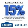 Starting today Save an Extra 15%, When you spend $100 or More!! Exclusions Apply, See in store for details. 🛠 #lowescanada