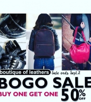 BOGO SALE @boutiqueofleathers  Buy One Get One 50% Off - Ends Sept.2 *includes sale items*