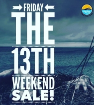 It's your lucky day! 👻 Everything at least 13% Off all WEEKEND!  #fridaythe13th  @flipflopshops_regina