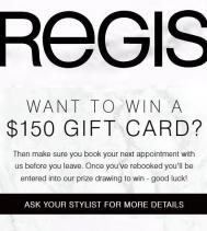 Rebook & WIN! @regissalons
