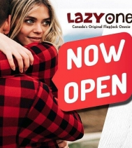 Now Open!  #famjam Bring everyone together with fun and comfy PJ sets for the whole family! @lazyone.ca