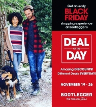 Deal of the Day on Now until Nov.26!  Everyday is a new deal - check online or in-store for details! @northgate_bootiecrew @bootleggerjeans