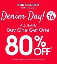 👖👖👖Denim Day @northgate_bootiecrew  @bootleggerjeans  BOGO 80% Off!! This Saturday Only! 🙌🏽