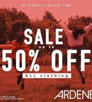 Up to 50% Off all Clothing! #ardenlove🧡 . . Restrictions apply