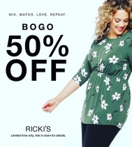 For a limited time!  BOGO 50% OFF 🙌🏽 💚#loverickis @rickisfashion
