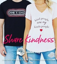 NEW LAUNCH!  Share Kindness 🤗 in support of @pinkshirtday  and @unitedwayregina $2 from every tee purchased, goes to supporting United Way Regina! @northgate_bootiecrew @bootleggerjeans  #showyourlocallove♥️