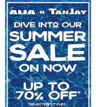 #summer sale on until Aug 6th at Alia n Tanjay!