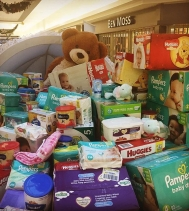 WOW!! Soon we won't see Mr. Teddy 🐻 with the donations coming in for #CTVBundleofJoy! These little babies need our kindness so help us and keep dropping off diapers, formula and baby wipes! #yqr! @ctvreginalive @carmichaeloutreach #newbaby #family #sup